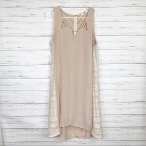 Umgee | Tan/Cream Lace Detail Dress